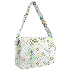 Square Colorful Geometric Style Courier Bag
