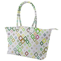Square Colorful Geometric Style Canvas Shoulder Bag
