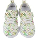 Square Colorful Geometric Style Kids  Velcro Strap Shoes View1