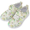 Square Colorful Geometric Style Kids  Velcro Strap Shoes View2