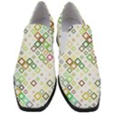 Square Colorful Geometric Style Slip On Heel Loafers View1