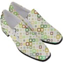 Square Colorful Geometric Style Slip On Heel Loafers View3