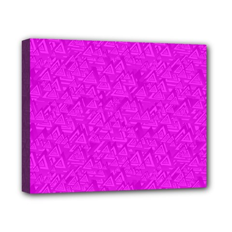 Triangle Pattern Seamless Color Canvas 10  X 8  (stretched)