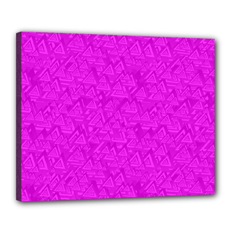 Triangle Pattern Seamless Color Canvas 20  X 16  (stretched)
