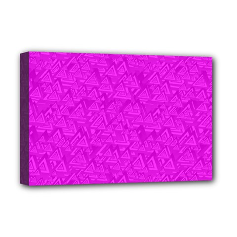 Triangle Pattern Seamless Color Deluxe Canvas 18  X 12  (stretched)
