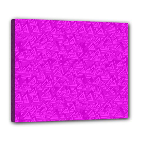 Triangle Pattern Seamless Color Deluxe Canvas 24  X 20  (stretched)
