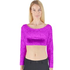 Triangle Pattern Seamless Color Long Sleeve Crop Top by Alisyart