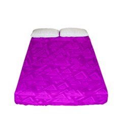 Triangle Pattern Seamless Color Fitted Sheet (full/ Double Size)