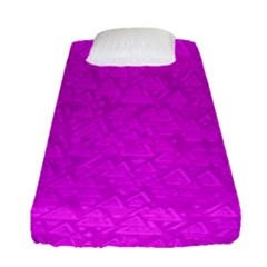 Triangle Pattern Seamless Color Fitted Sheet (single Size)