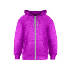 Triangle Pattern Seamless Color Kids  Zipper Hoodie