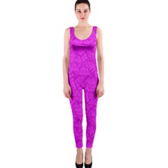 Triangle Pattern Seamless Color One Piece Catsuit