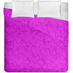 Triangle Pattern Seamless Color Duvet Cover Double Side (king Size)