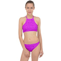 Triangle Pattern Seamless Color Racer Front Bikini Set by Alisyart