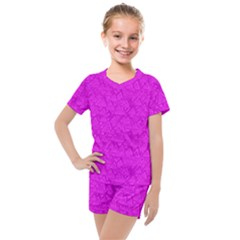 Triangle Pattern Seamless Color Kids  Mesh Tee And Shorts Set by Alisyart