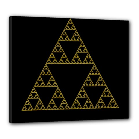 Sierpinski Triangle Chaos Fractal Canvas 24  X 20  (stretched)