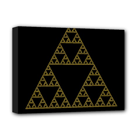 Sierpinski Triangle Chaos Fractal Deluxe Canvas 16  X 12  (stretched)  by Alisyart