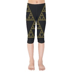 Sierpinski Triangle Chaos Fractal Kids  Capri Leggings  by Alisyart