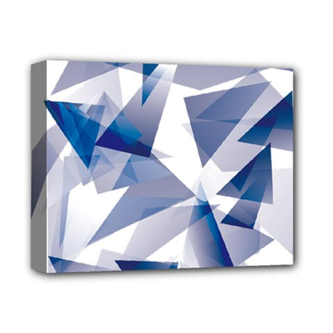 Triangle Blue Deluxe Canvas 14  X 11  (stretched) by Alisyart