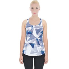 Triangle Blue Piece Up Tank Top