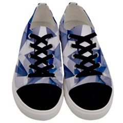 Triangle Blue Men s Low Top Canvas Sneakers