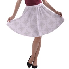 Star Pattern Texture Background A Line Skater Skirt