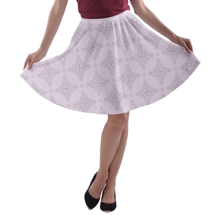 Star Pattern Texture Background A-line Skater Skirt