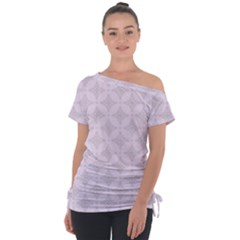 Star Pattern Texture Background Tie Up Tee