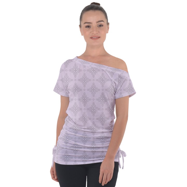 Star Pattern Texture Background Tie-Up Tee