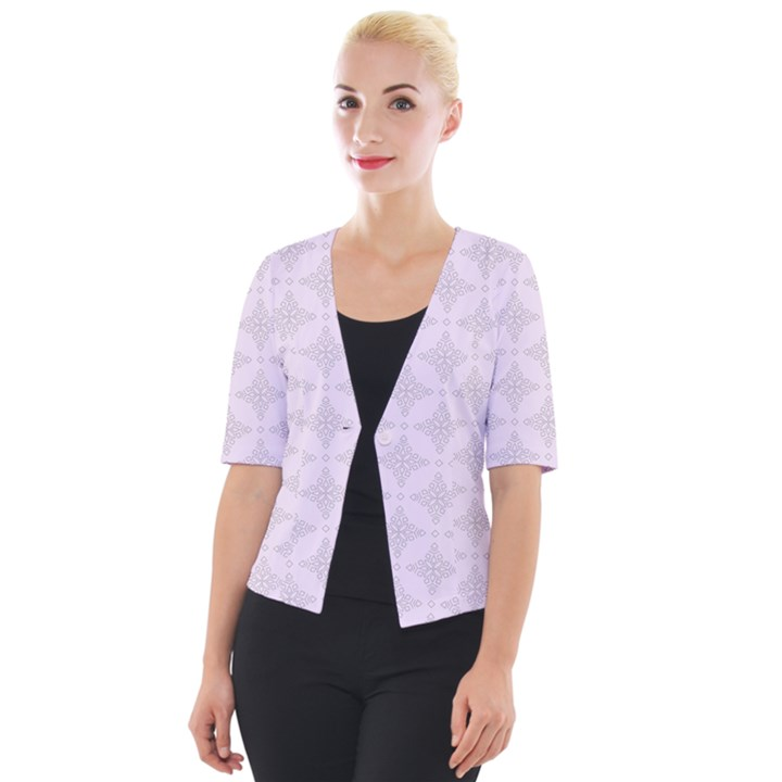 Star Pattern Texture Background Cropped Button Cardigan