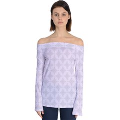 Star Pattern Texture Background Off Shoulder Long Sleeve Top