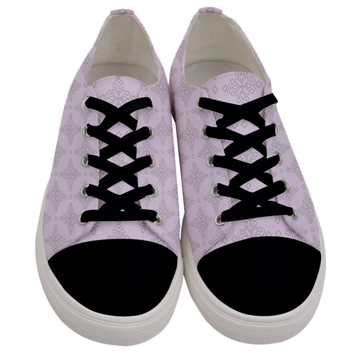 Star Pattern Texture Background Men s Low Top Canvas Sneakers