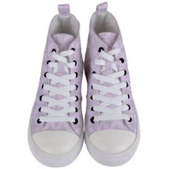 Star Pattern Texture Background Women s Mid-top Canvas Sneakers