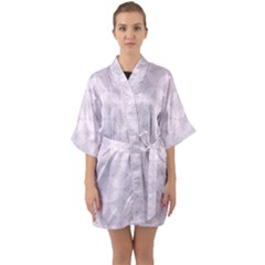 Star Pattern Texture Background Quarter Sleeve Kimono Robe
