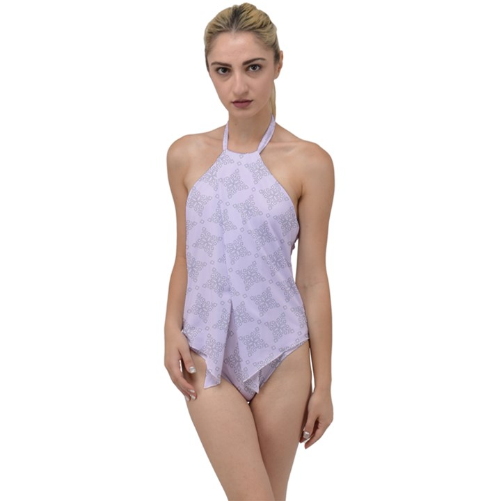 Star Pattern Texture Background Go with the Flow One Piece Swimsuit