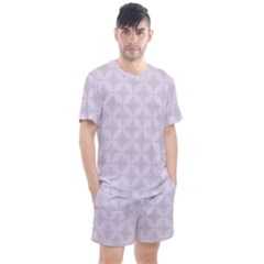 Star Pattern Texture Background Men s Mesh Tee And Shorts Set