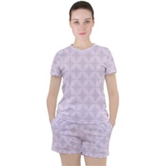 Star Pattern Texture Background Women s Tee And Shorts Set by Alisyart