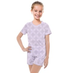 Star Pattern Texture Background Kids  Mesh Tee And Shorts Set