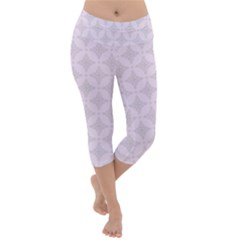 Star Pattern Texture Background Lightweight Velour Capri Yoga Leggings