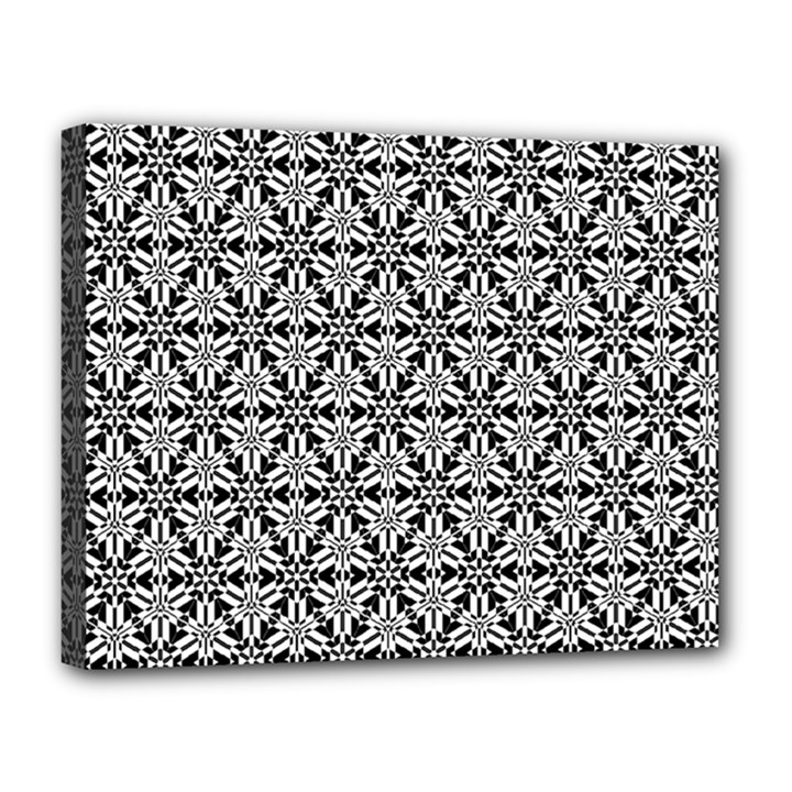 Ornamental Checkerboard Canvas 14  x 11  (Stretched)