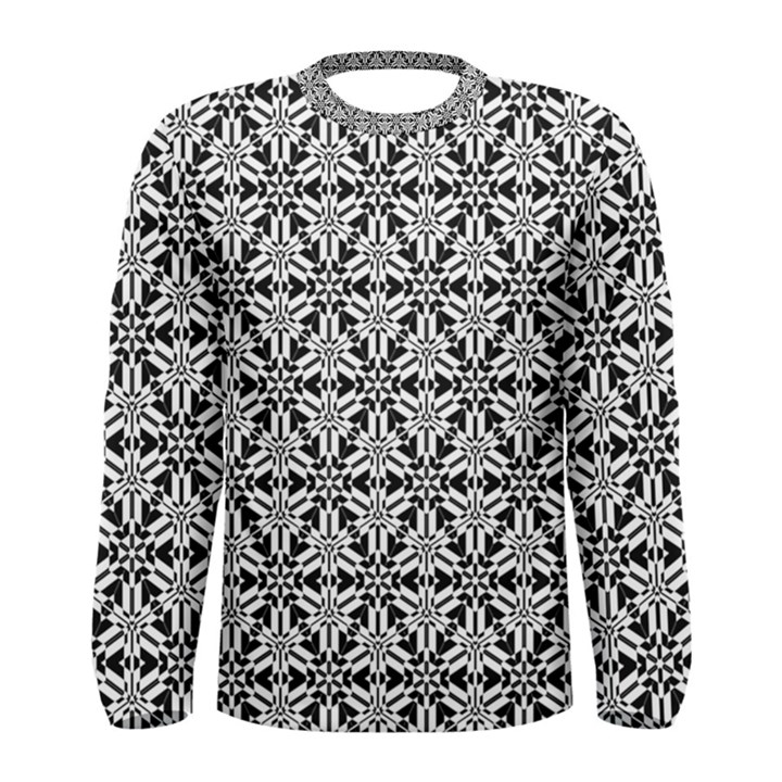 Ornamental Checkerboard Men s Long Sleeve Tee