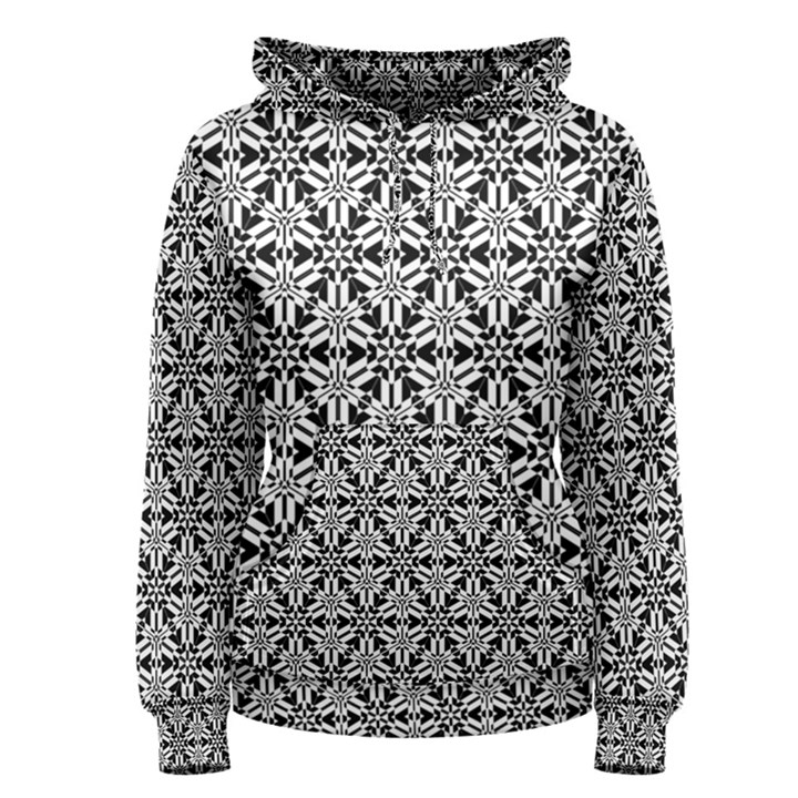 Ornamental Checkerboard Women s Pullover Hoodie