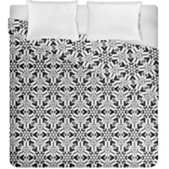 Ornamental Checkerboard Duvet Cover Double Side (king Size)