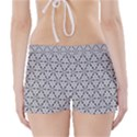 Ornamental Checkerboard Boyleg Bikini Wrap Bottoms View2
