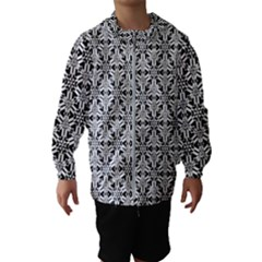 Ornamental Checkerboard Hooded Windbreaker (kids)