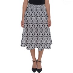 Ornamental Checkerboard Perfect Length Midi Skirt by Mariart