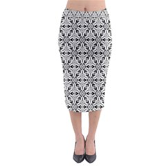 Ornamental Checkerboard Midi Pencil Skirt by Mariart