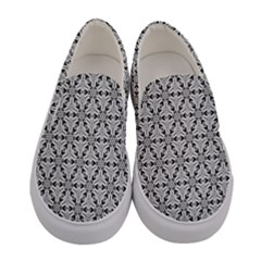 Ornamental Checkerboard Women s Canvas Slip Ons