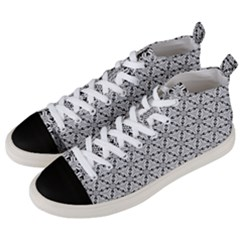 Ornamental Checkerboard Men s Mid Top Canvas Sneakers by Mariart