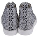 Ornamental Checkerboard Women s Mid-Top Canvas Sneakers View4