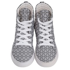 Ornamental Checkerboard Men s Hi Top Skate Sneakers
